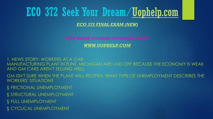 Eco 372 seek your dream uophelp com2