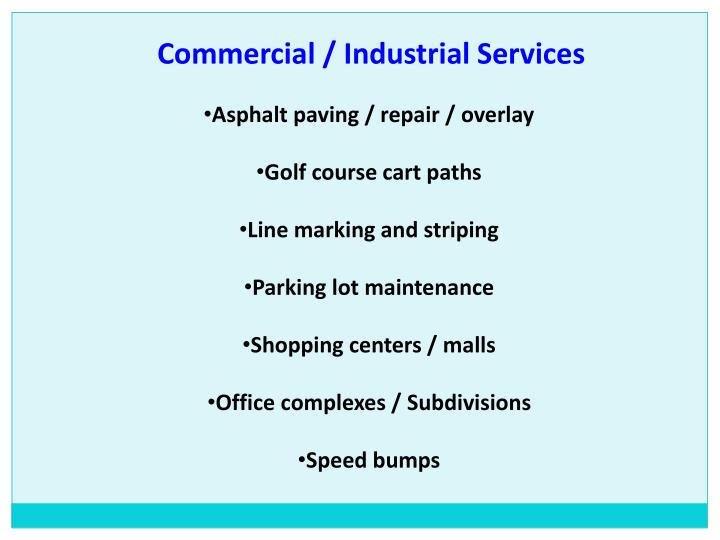 Commercial / Industrial Services