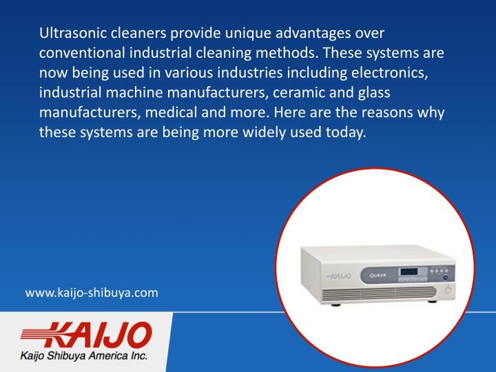 Ultrasonic cleaners provide unique advantages over conventional industrial cleaning methods. These s...
