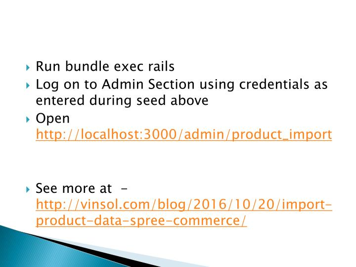 Run bundle exec rails
