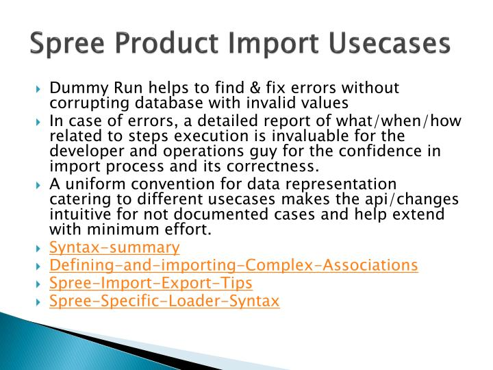Spree Product Import