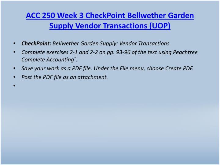 ACC 250 Week 3