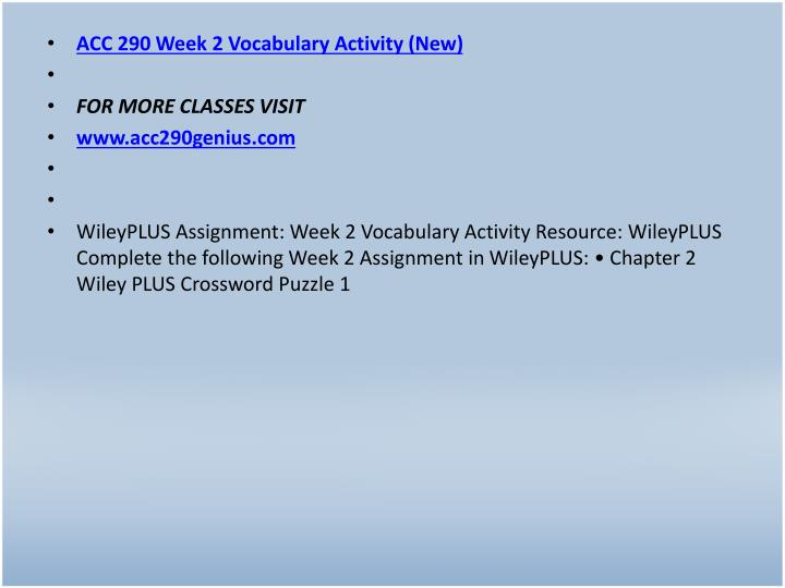ACC 290 Week 2 Vocabulary Activity (New)