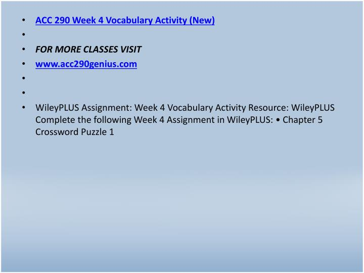 ACC 290 Week 4 Vocabulary Activity (New)