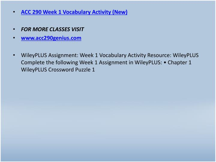 ACC 290 Week 1 Vocabulary Activity (New)