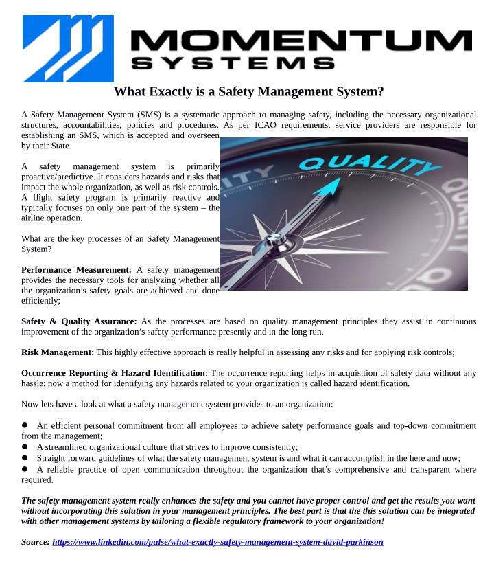 What Exactly is a Safety Management System?