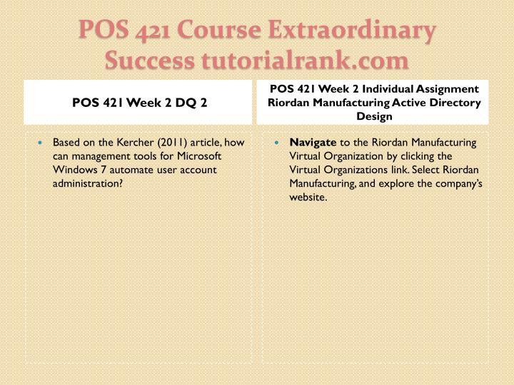 POS 421 Week 2 DQ 2