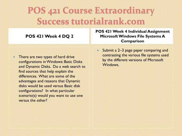 POS 421 Week 4 DQ 2