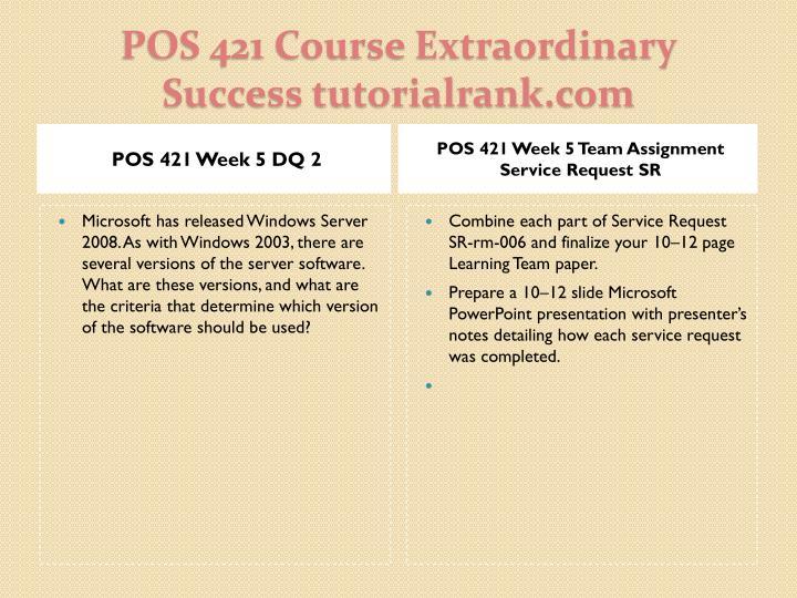 POS 421 Week 5 DQ 2