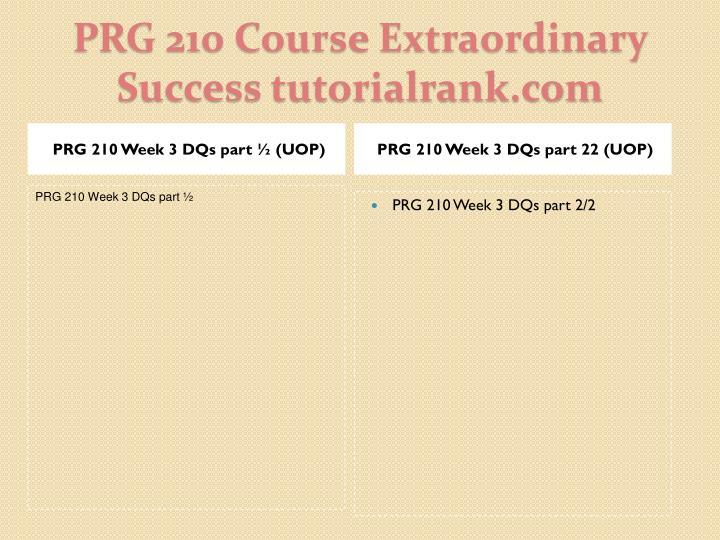 PRG 210 Week 3 DQs part 22 (UOP)