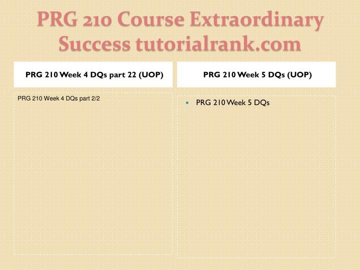 PRG 210 Week 5 DQs (UOP)