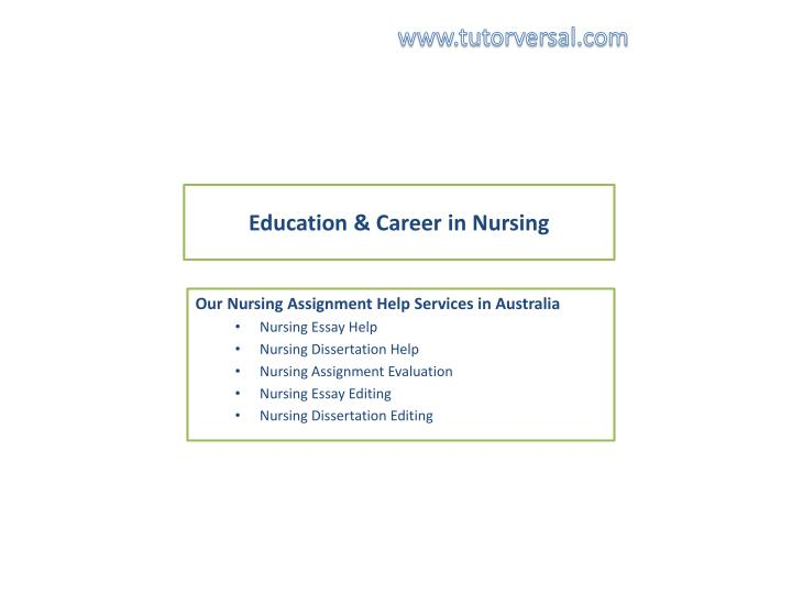 Education career in nursing