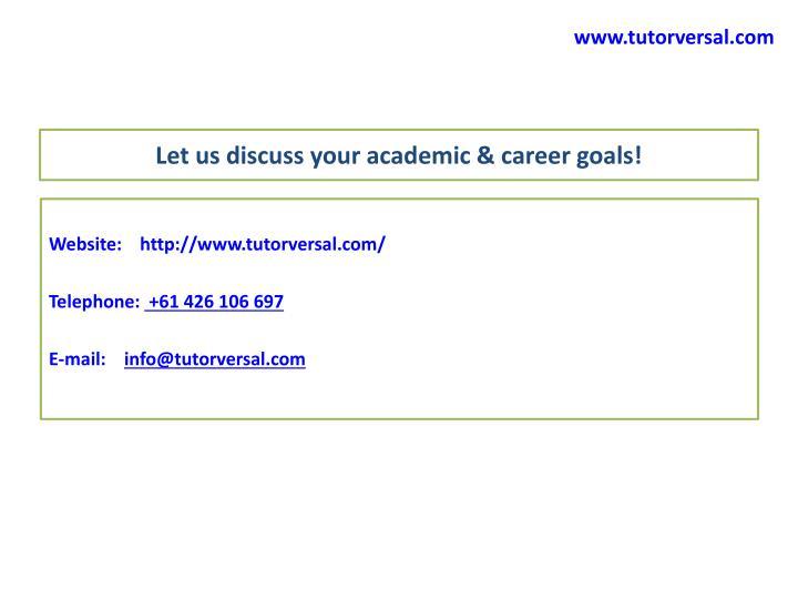 www.tutorversal.com