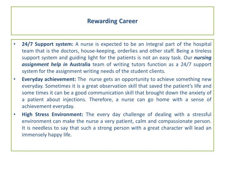 Rewarding Career