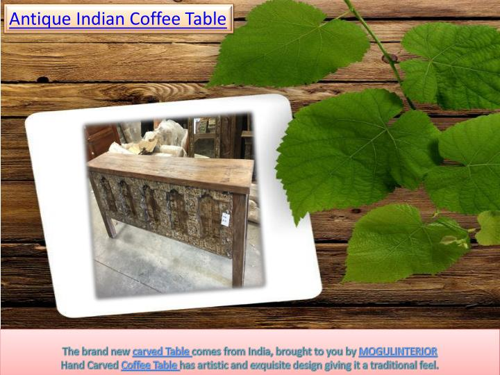 Antique Indian Coffee Table
