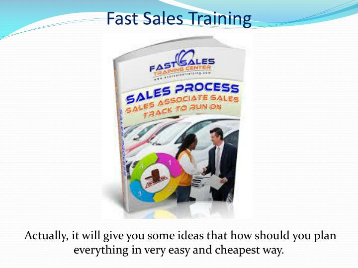Fast Sales Training