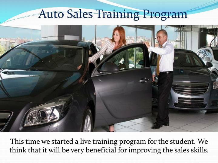 Auto Sales Training Program