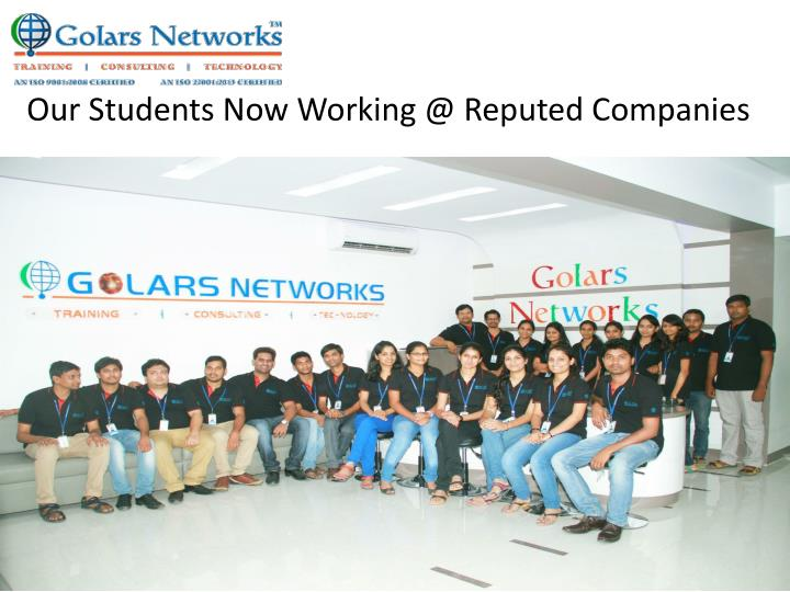 Our Students Now Working @ Reputed Companies