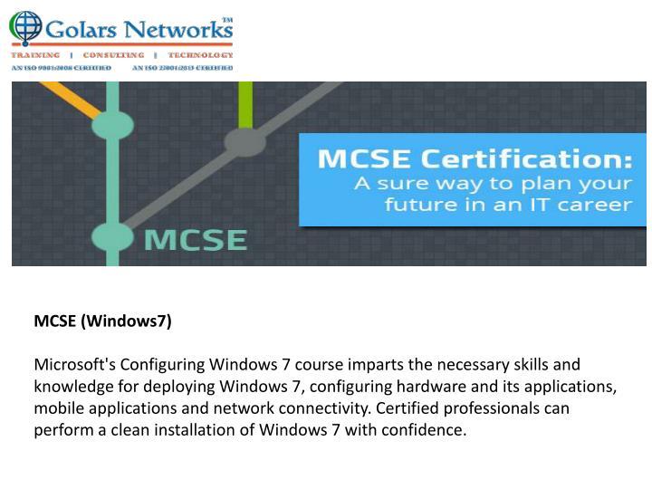 MCSE (Windows7)