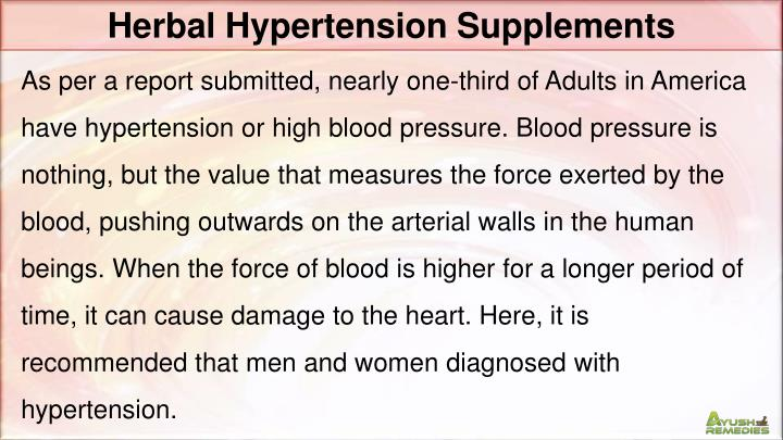 Herbal Hypertension Supplements