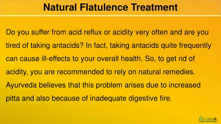 Natural Flatulence Treatment