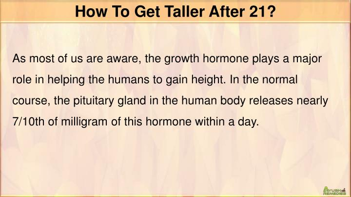 How To Get Taller After