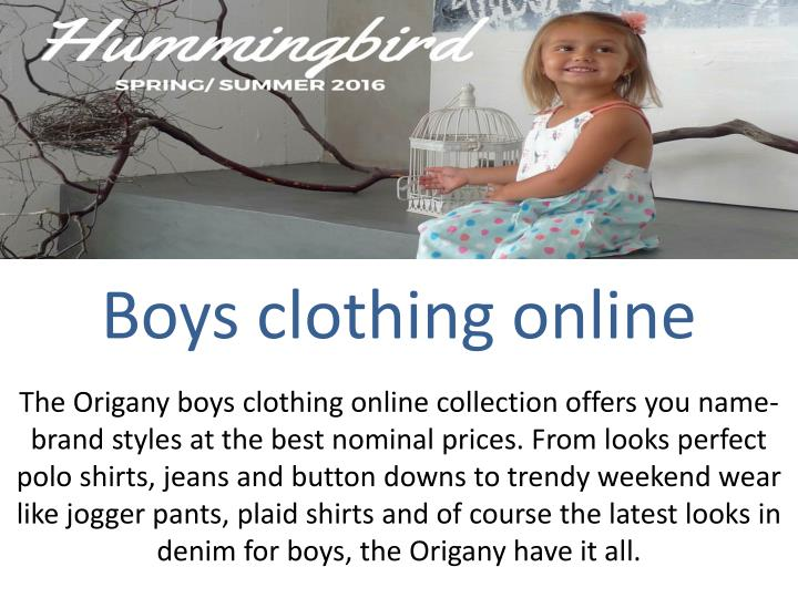 Boys clothing online