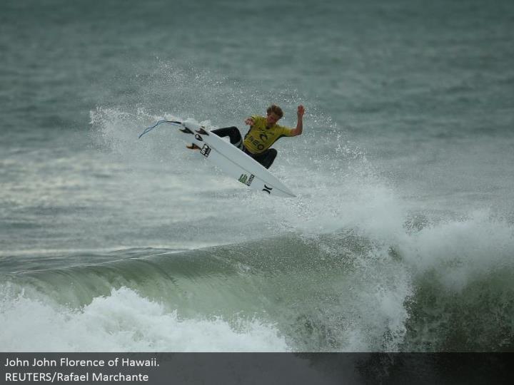 John John Florence of Hawaii.  REUTERS/Rafael Marchante