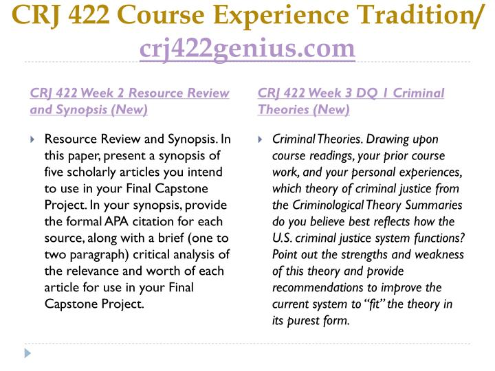 CRJ 422 Course