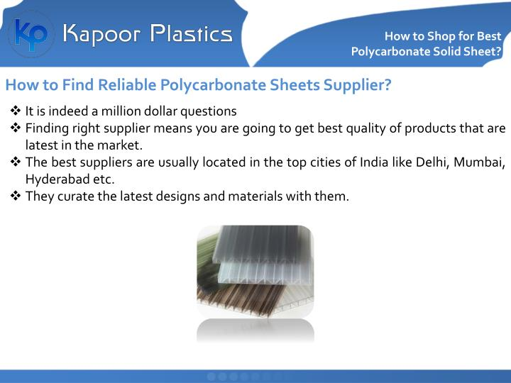 How to shop for best polycarbonate solid sheet