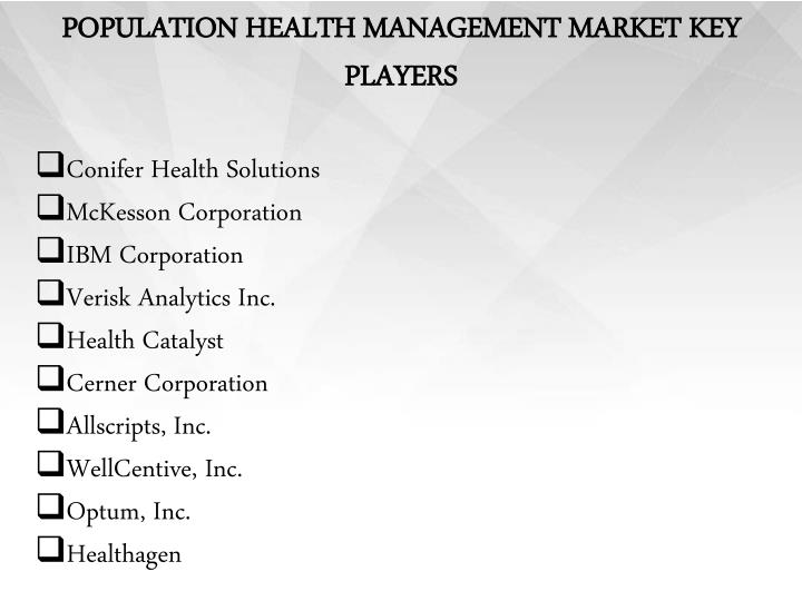 POPULATION HEALTH MANAGEMENT MARKET KEY PLAYERS