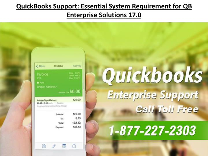 Quickbooks support essential system requirement for qb enterprise solutions 17 0