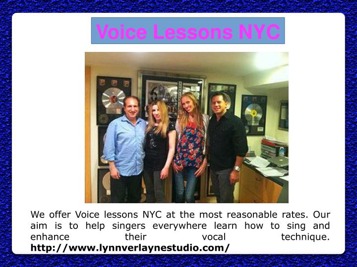 Voice Lessons NYC