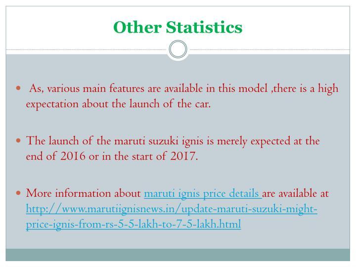 Other Statistics