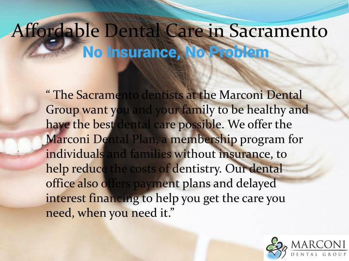 Affordable Dental Care in Sacramento