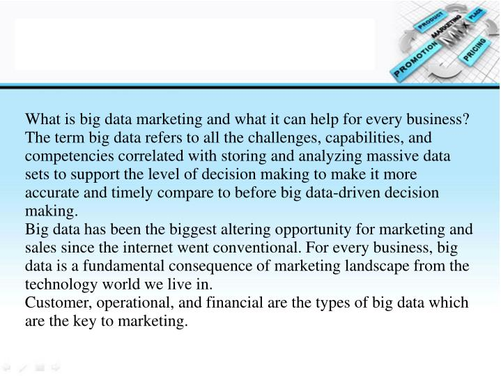 What is big data marketing and what it can help for every business?