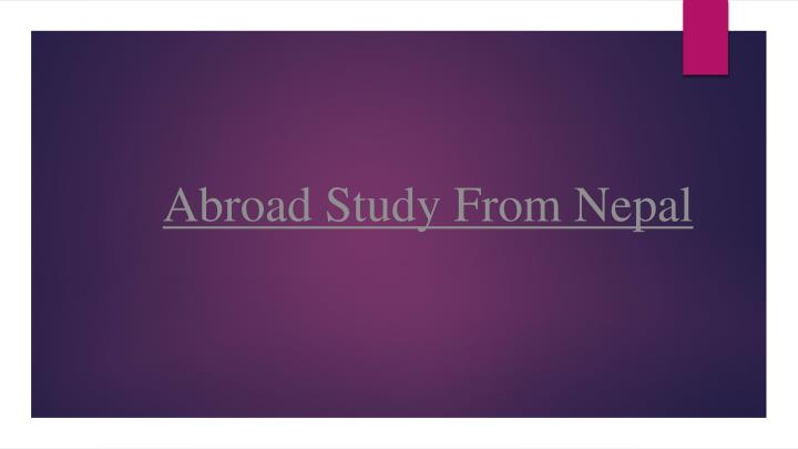 Abroad Study From Nepal