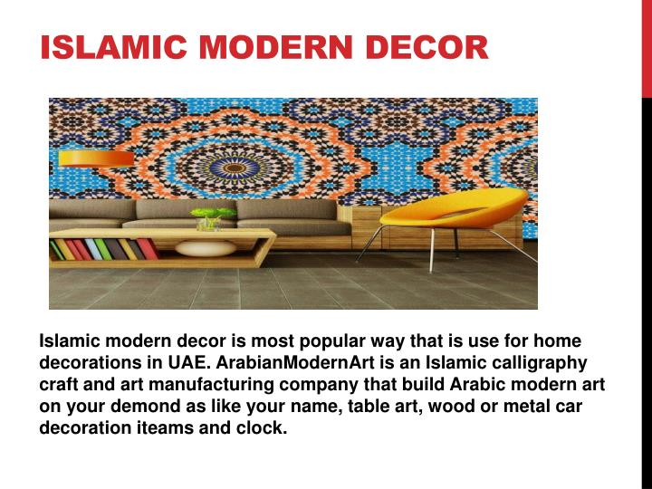Islamic modern decor