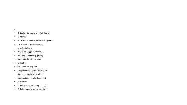 3. Contoh dari Jenis-jenis Puisi Lama