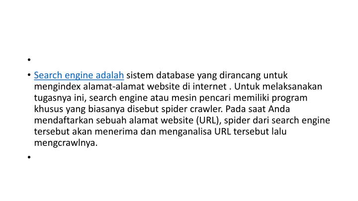 Search engine adalah