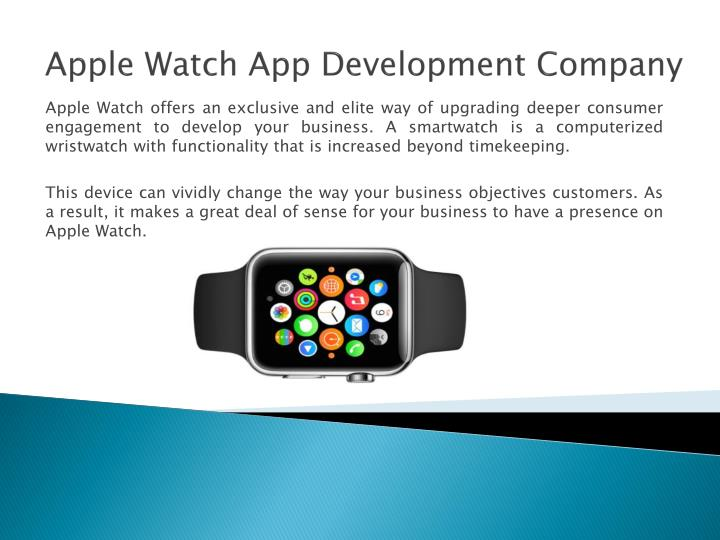 apple watch app development company