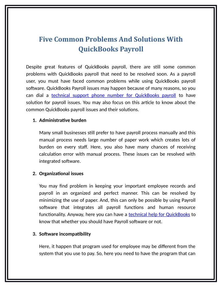 Five Common Problems And Solutions With
