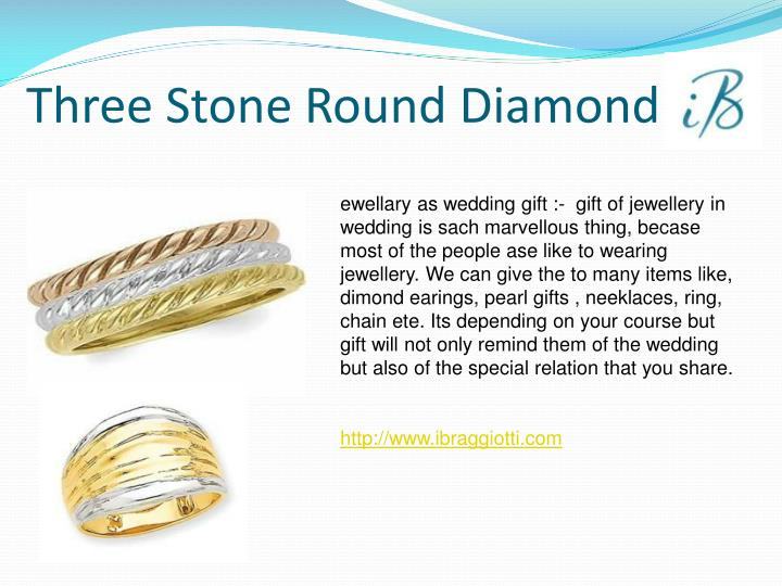 Three Stone Round Diamond