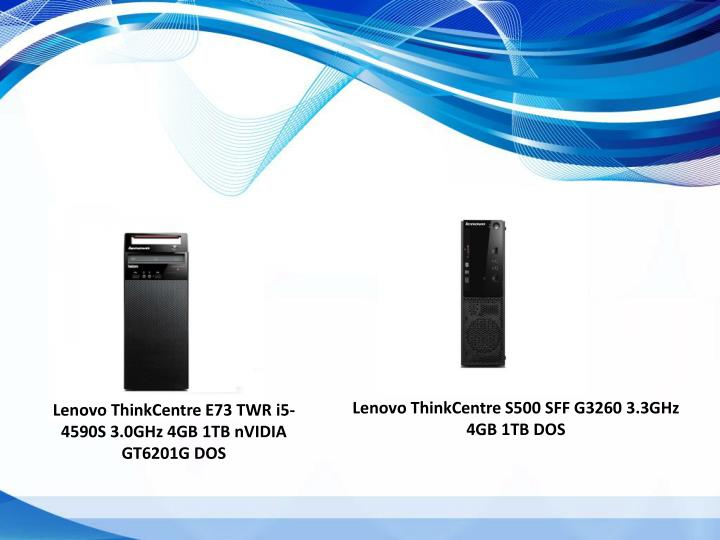 Lenovo ThinkCentre S500 SFF G3260 3.3GHz 4GB 1TB DOS