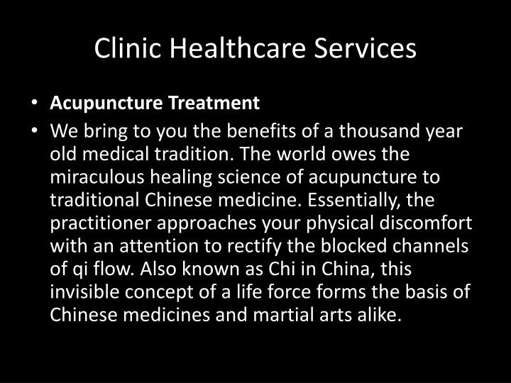 Clinic Healthcare Services