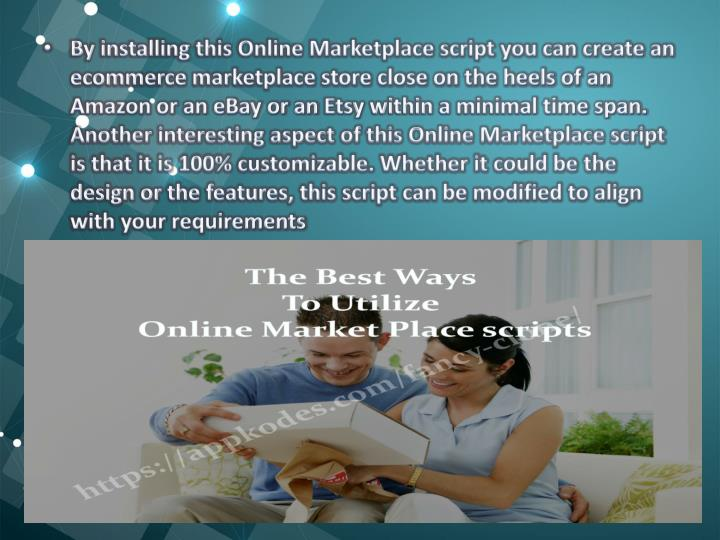 By installing this Online Marketplace script you can create an ecommerce marketplace store close on the heels of an Amazon or an eBay or an
