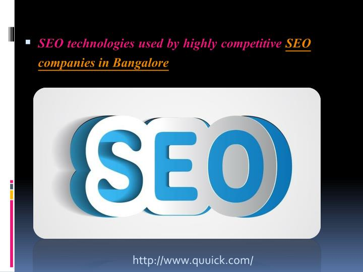 SEO technologies used by highly competitive