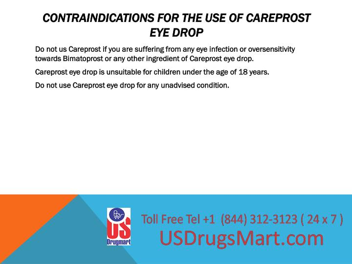 Contraindications for the use of