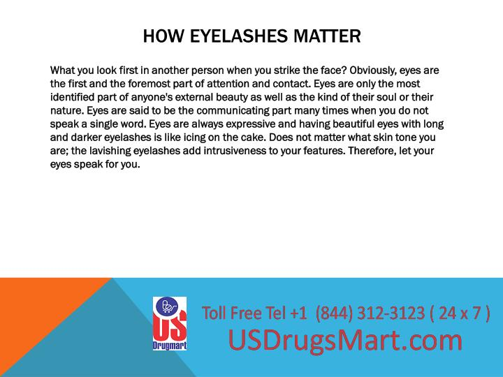 How eyelashes matter