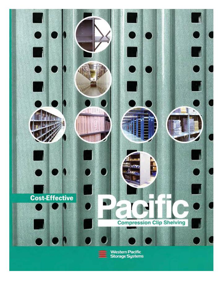 Cost effective pacific compression clip shelving